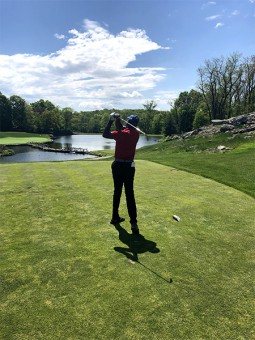 Jimmie James swinging at Sleepy Hollow Country Club