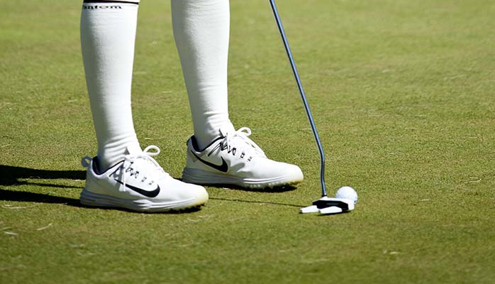 Golfer Shoes and Socks