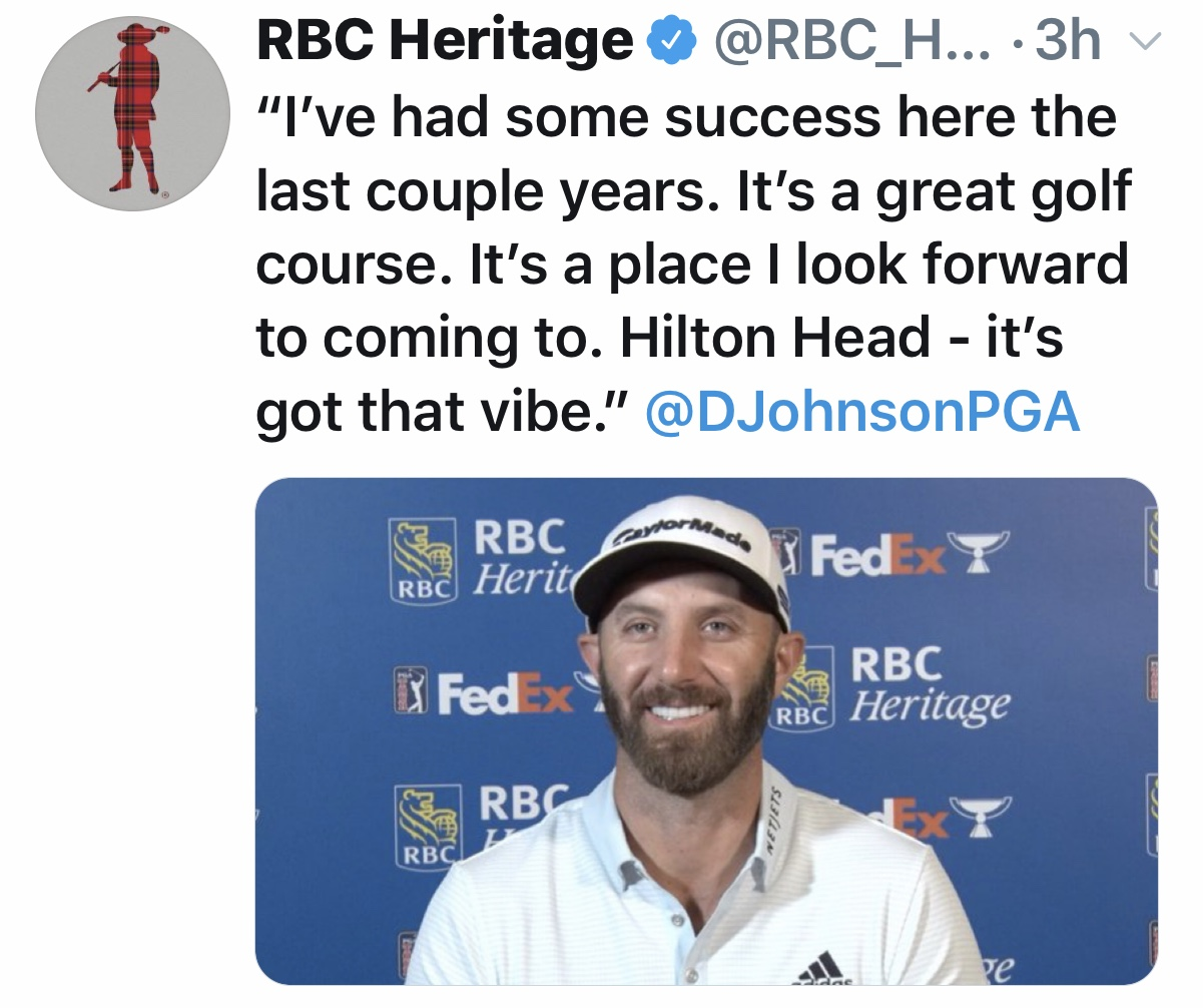 RBC Heritage Dustin Johnson