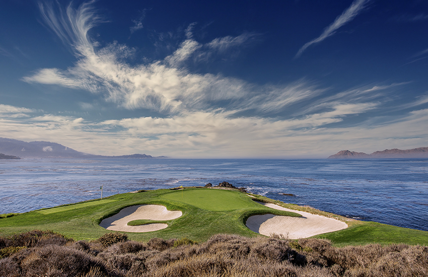 Top place where to golf in California is Pebble Beach