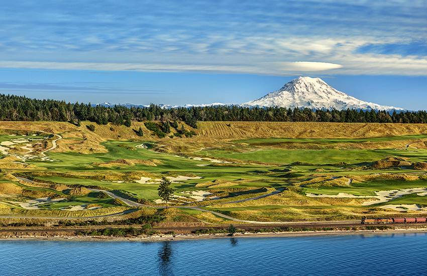 A best summer golf course to visit is Chambers Bay