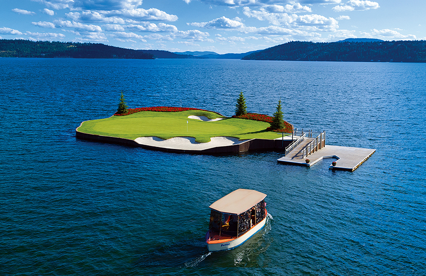 The best summer golf resort to experience is Couer d'Alene Resort